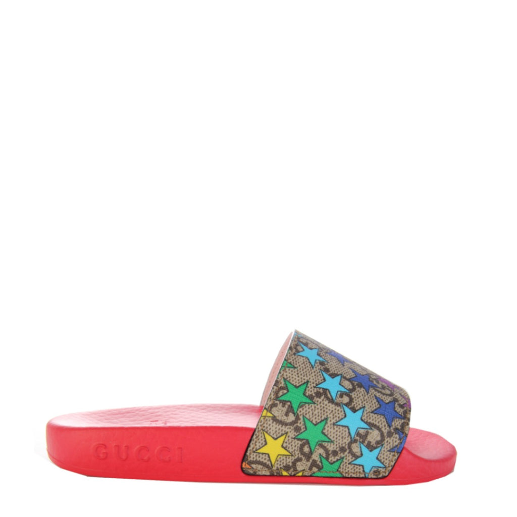 Gucci Kids Rainbow Star Slide Sandal