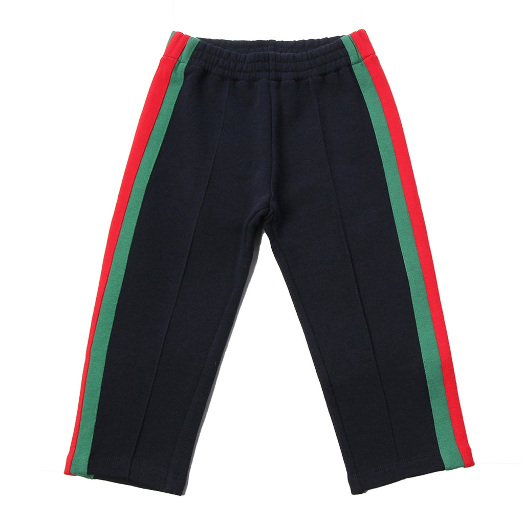 Gucci Baby Navy Web Jogging Bottoms