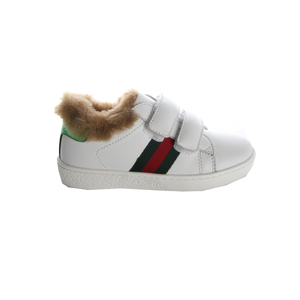Gucci Toddler Fur White Trainers