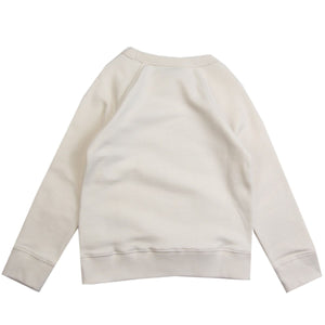 Gucci Kids GG Web Logo White Sweatshirt
