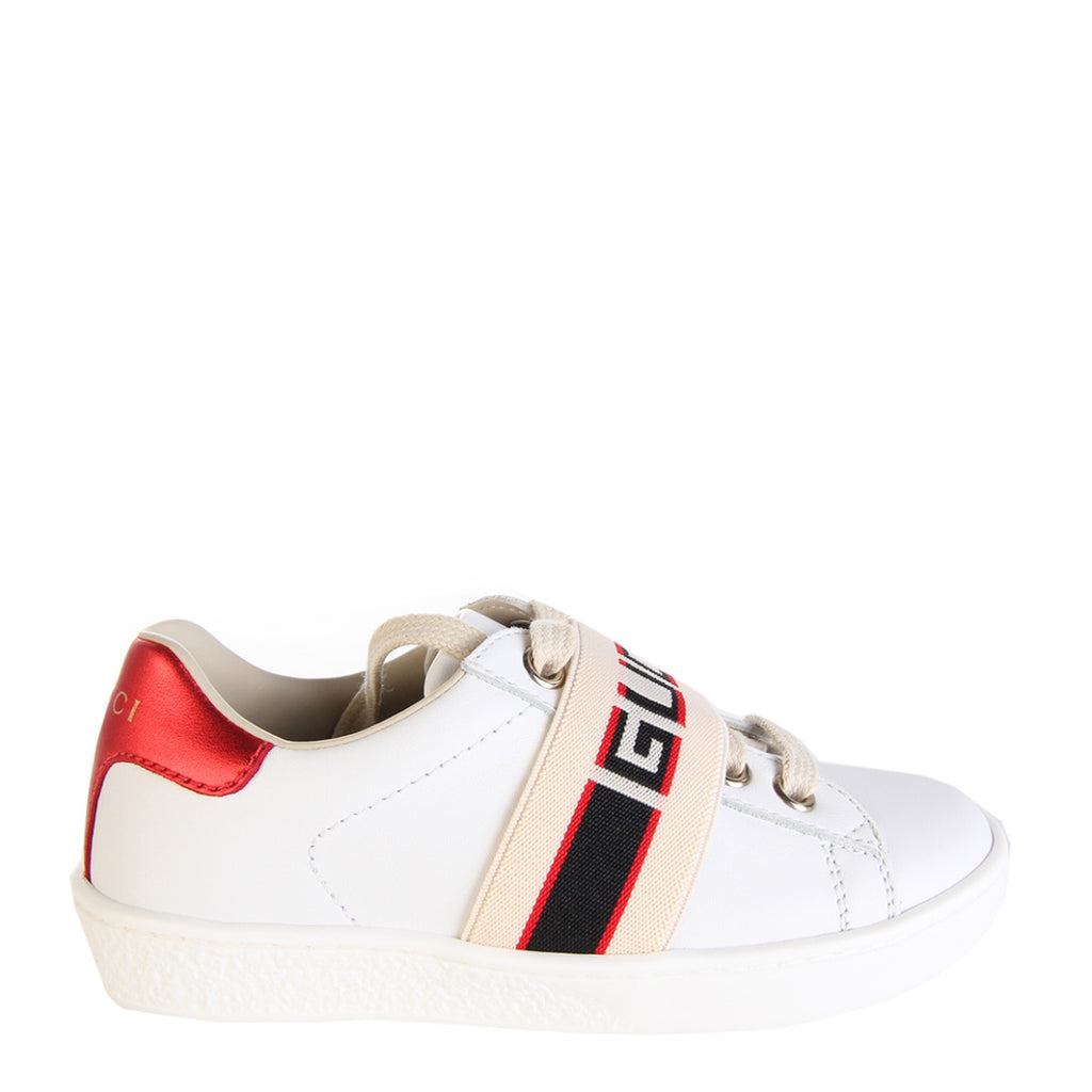 Gucci Unisex Ace Sneaker With Gucci Stripe