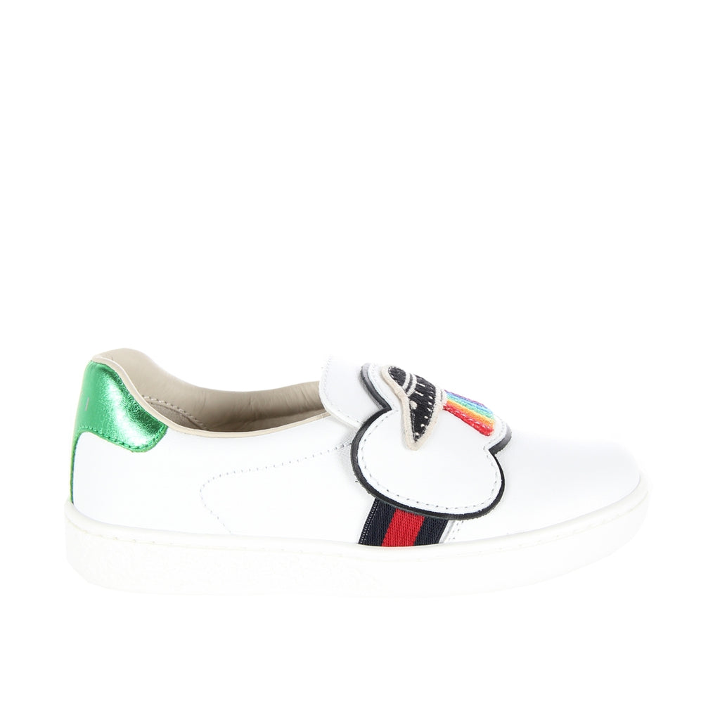 Gucci Toddler UFO White Slip On Trainers