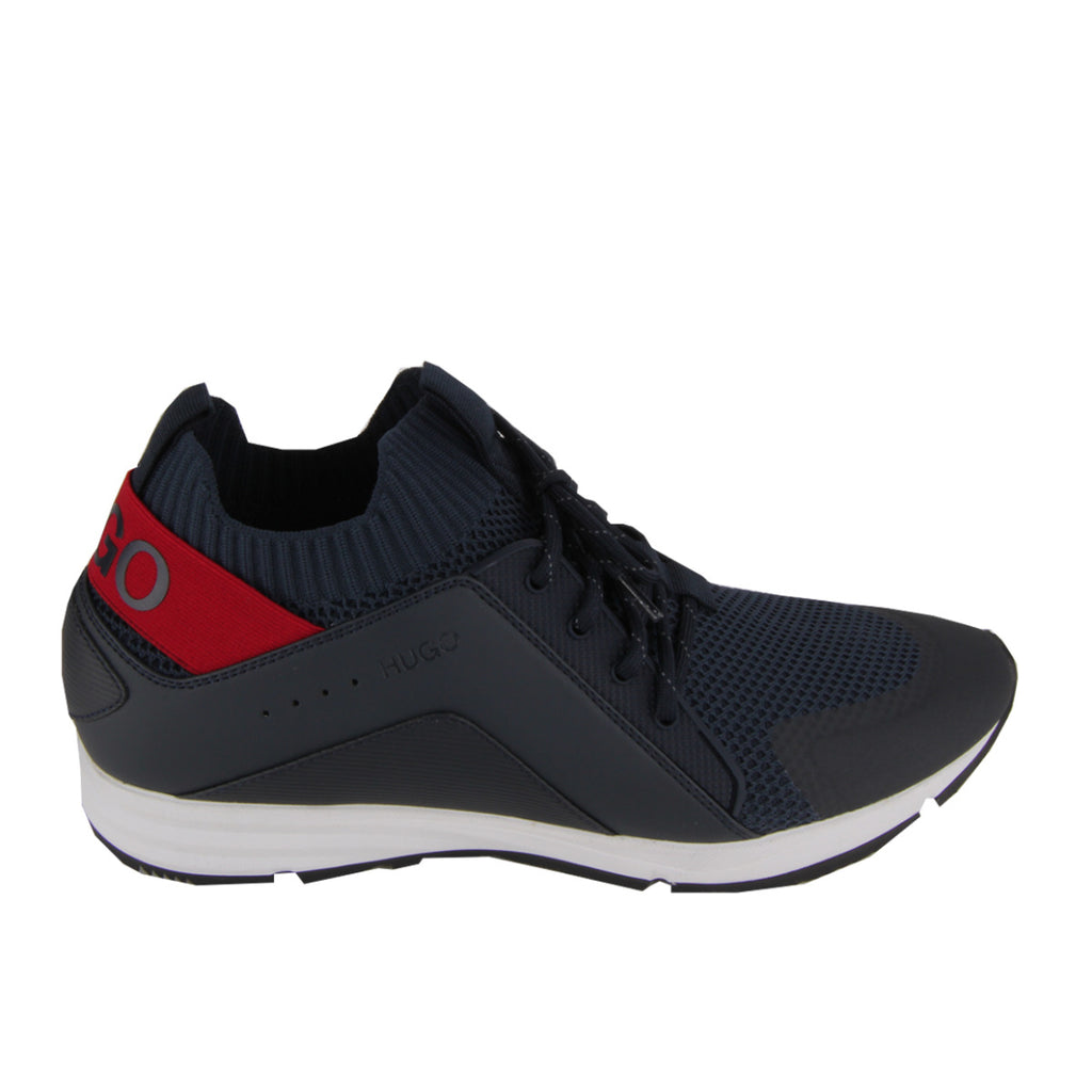Hugo Boss Blue Hybrid Knitted Sock Trainers