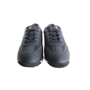 Boss Maze Lowp Logo Pattern Navy Trainers