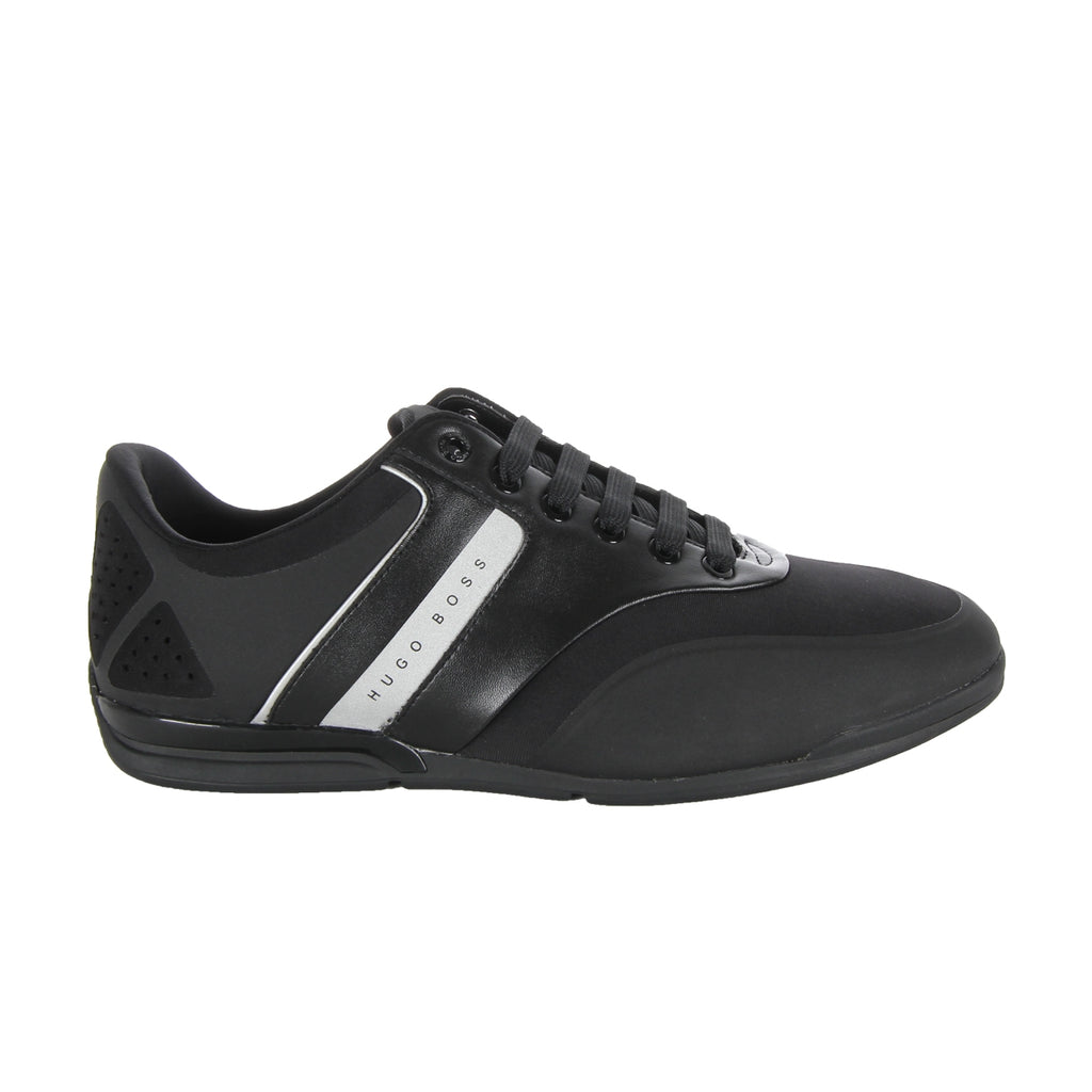 Boss Green Black Saturn Low Top Neoprene Trainers