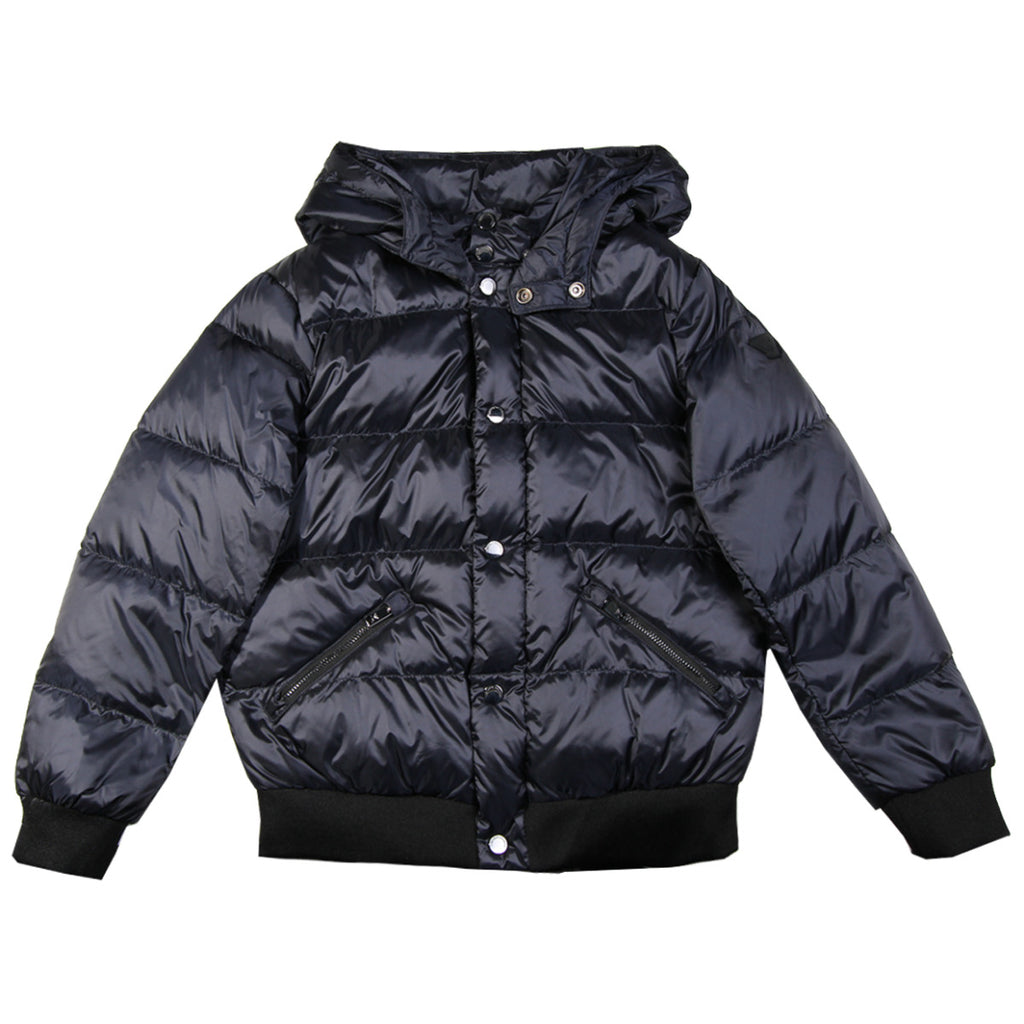 Armani Junior Navy Puffer