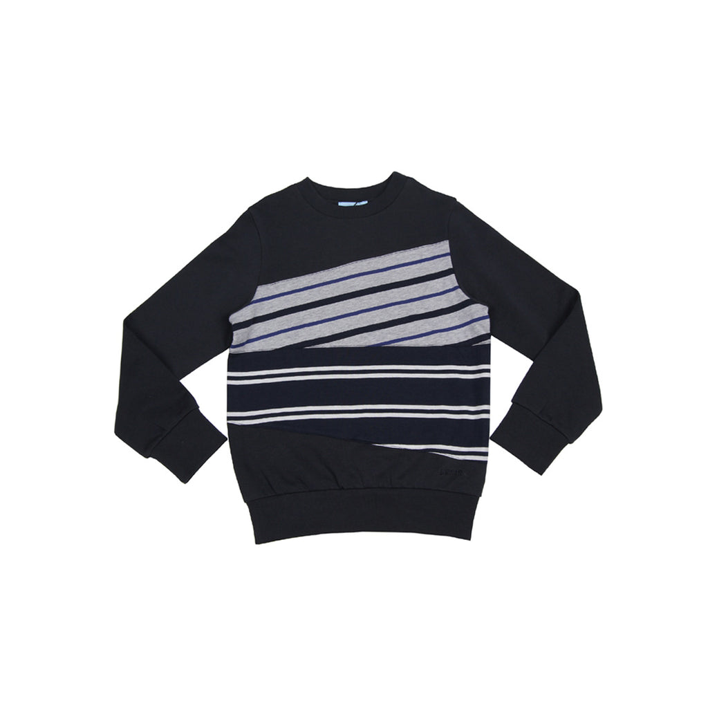 Lanvin Kids  Stripes Blue Sweat Top