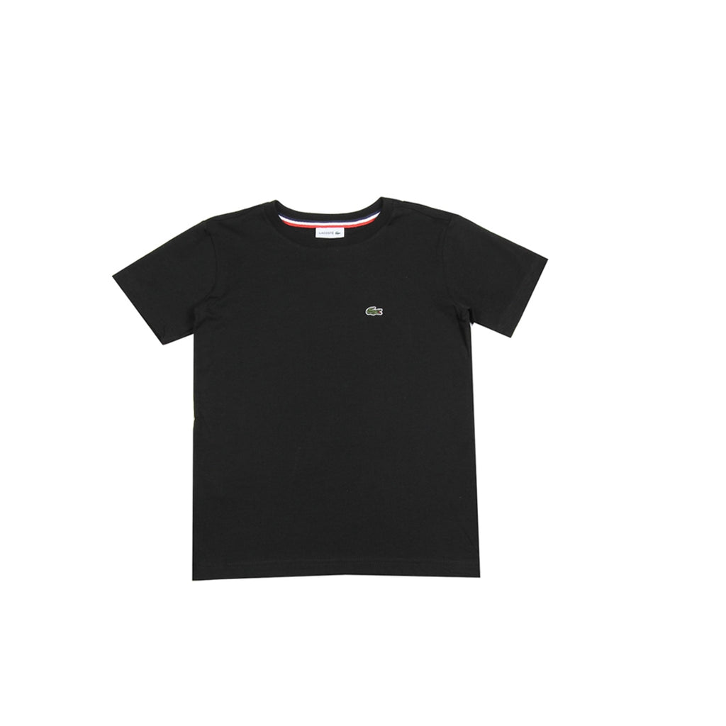 Lacoste Kids Solid Black T-Shirt