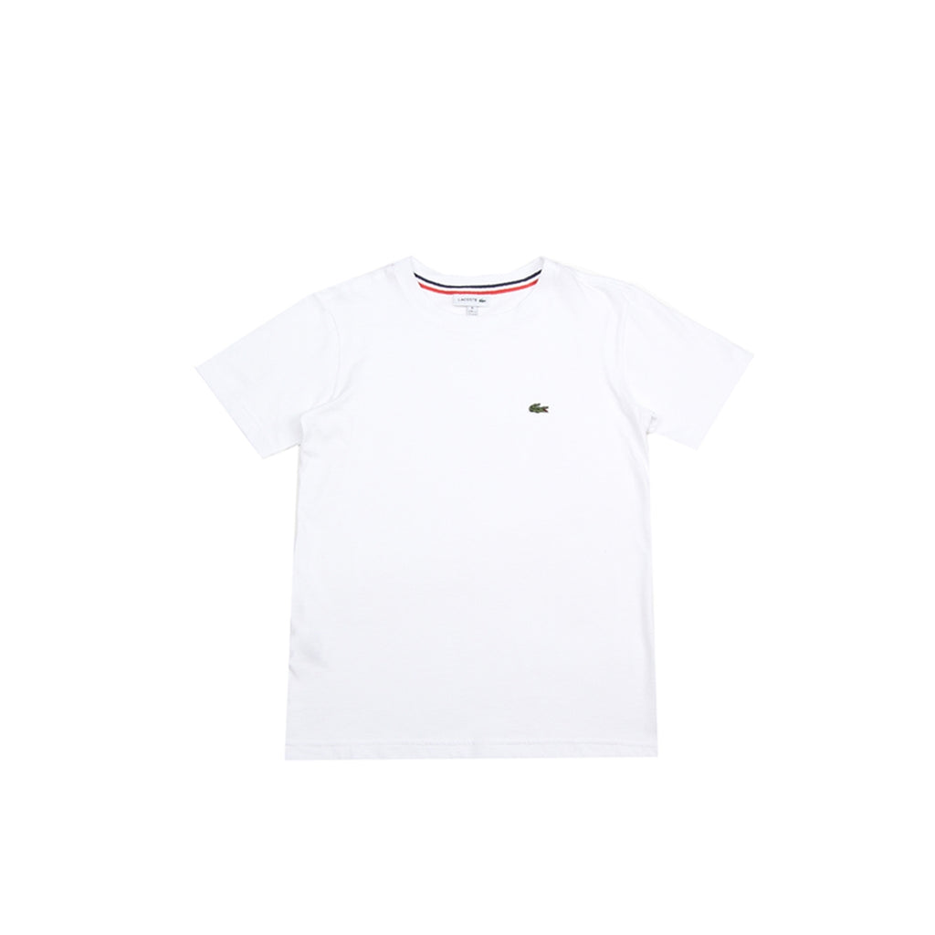 Lacoste Kids Solid White T-Shirt