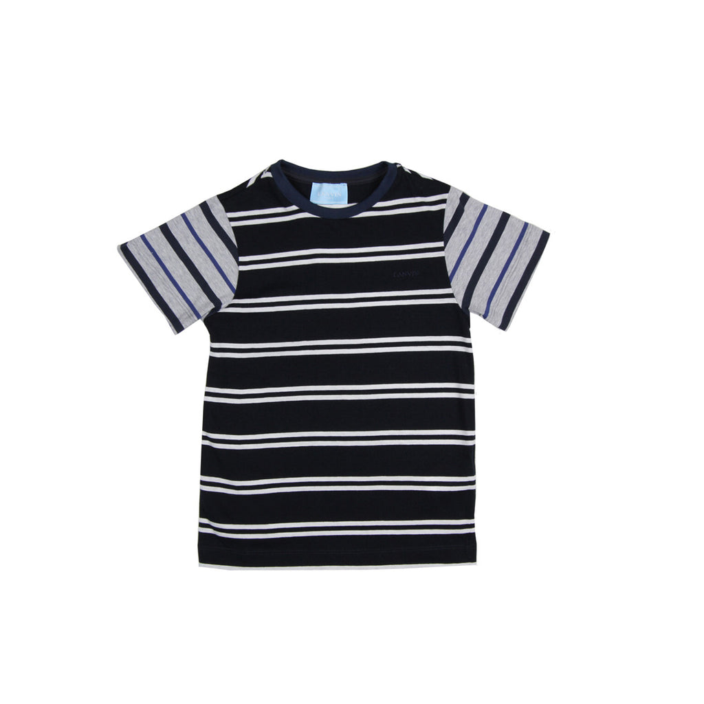 Lanvin Kids Stripes Navy T-Shirt