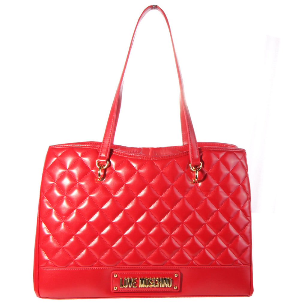 Love Moschino Quilted Effect Red Tote Bag