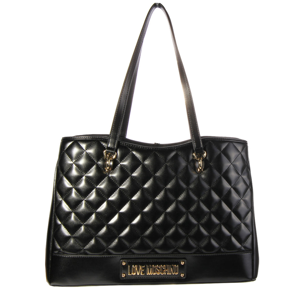 Love Moschino Quilted Effect Black Tote Bag