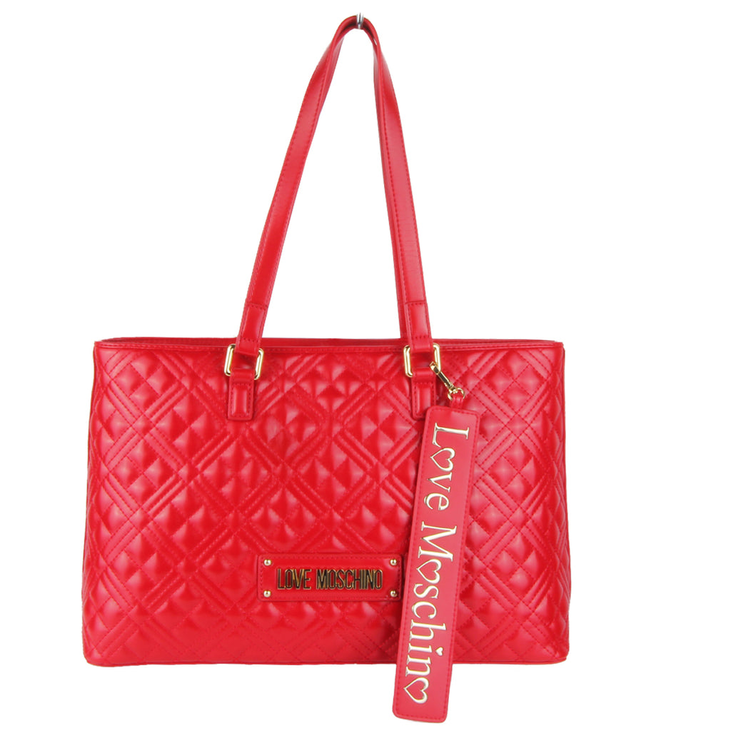 Love Moschino Gold Logo Quilted Shopper Bag