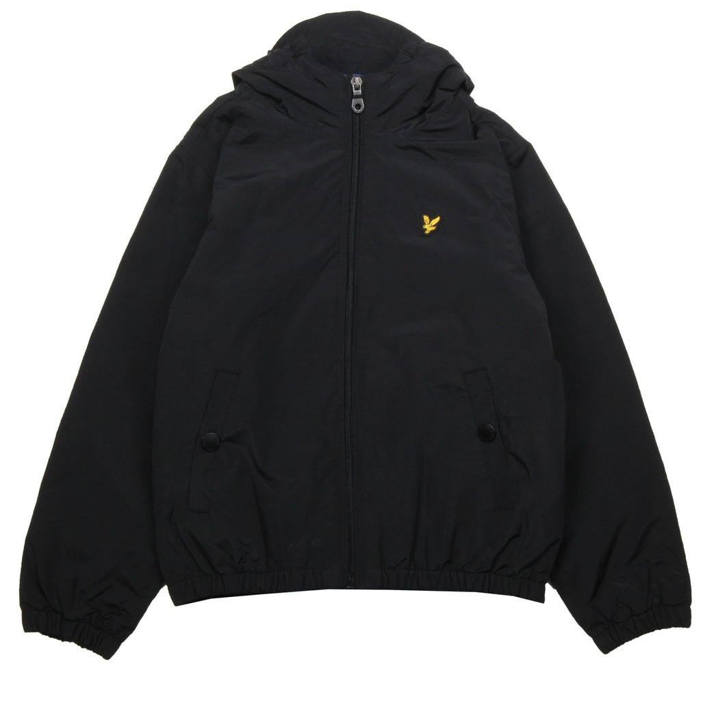 Lyle & Scott Junior Hooded Padded Black Jacket