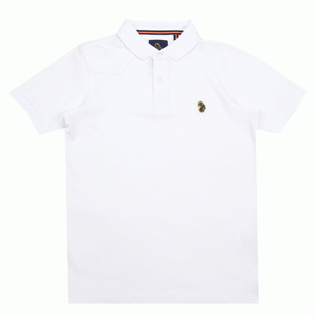 Luke 1977 Junior White Polo Shirt