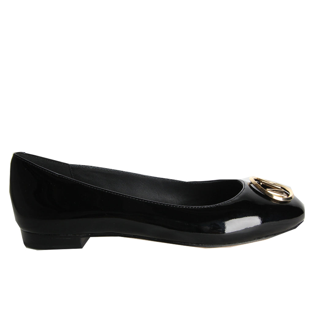 Michael Kors Black Patent Leather Dena Ballet Pumps