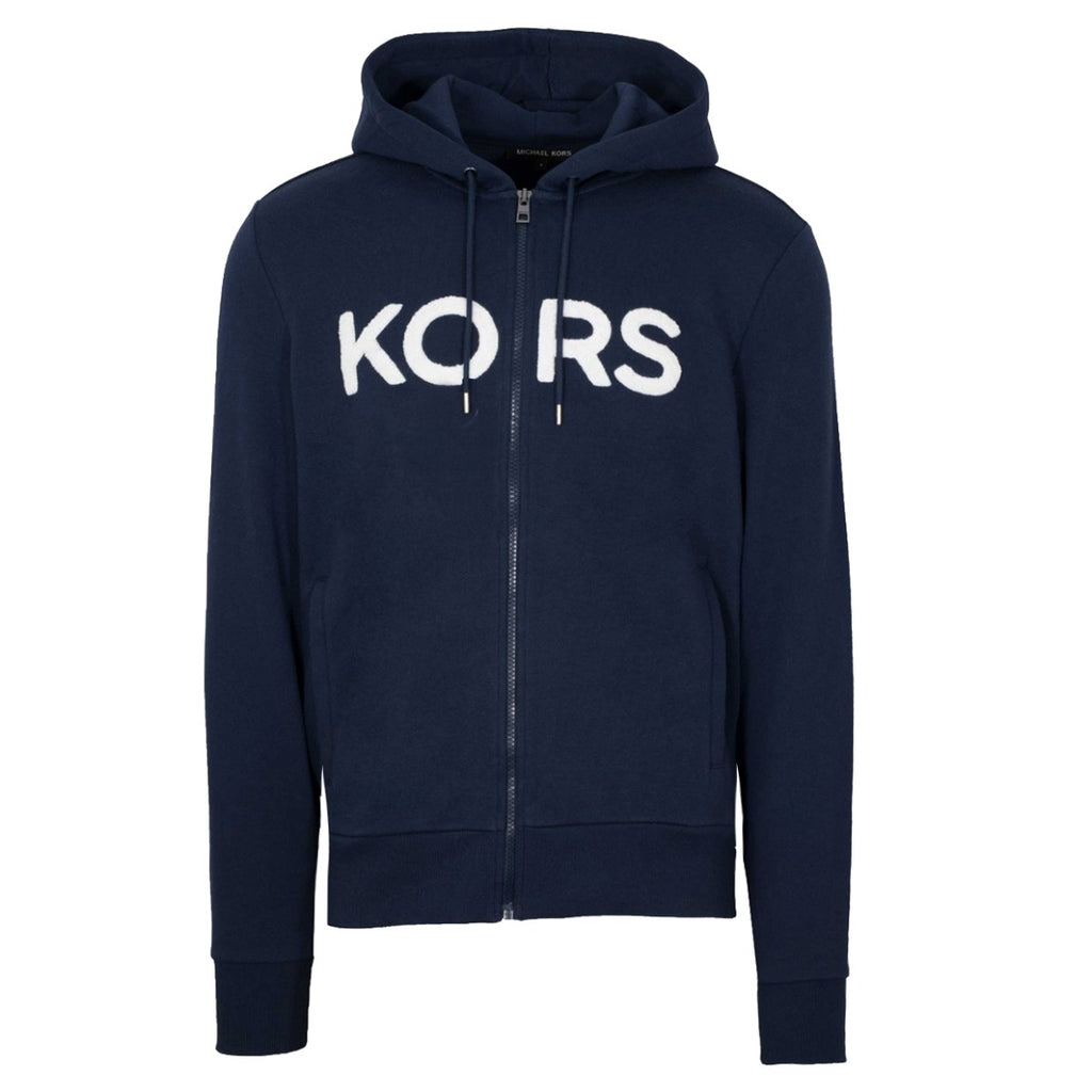 Michael Kors Navy Logo Zip-up Hoodie