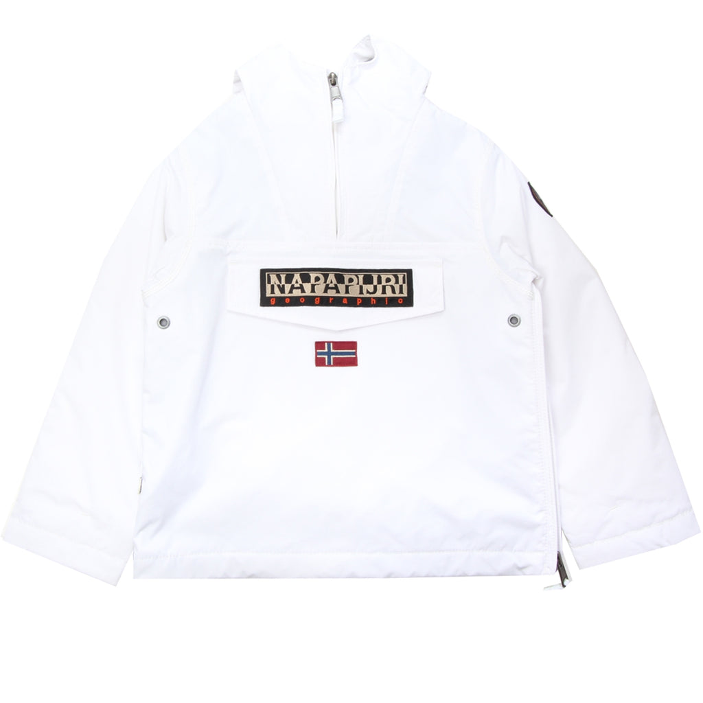 Napapijri Junior White Rainforest Pullover Jacket