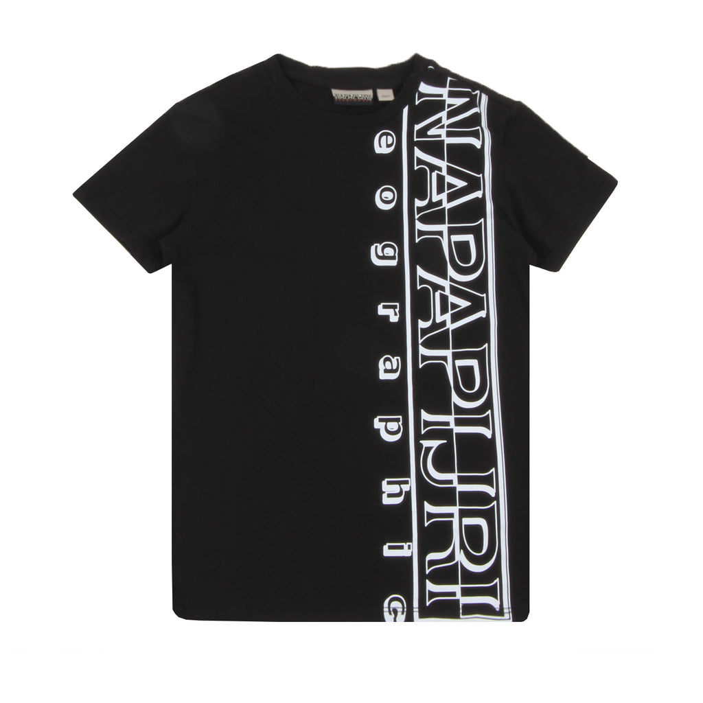 Napapijri Junior Vertical Logo Black  T-shirt