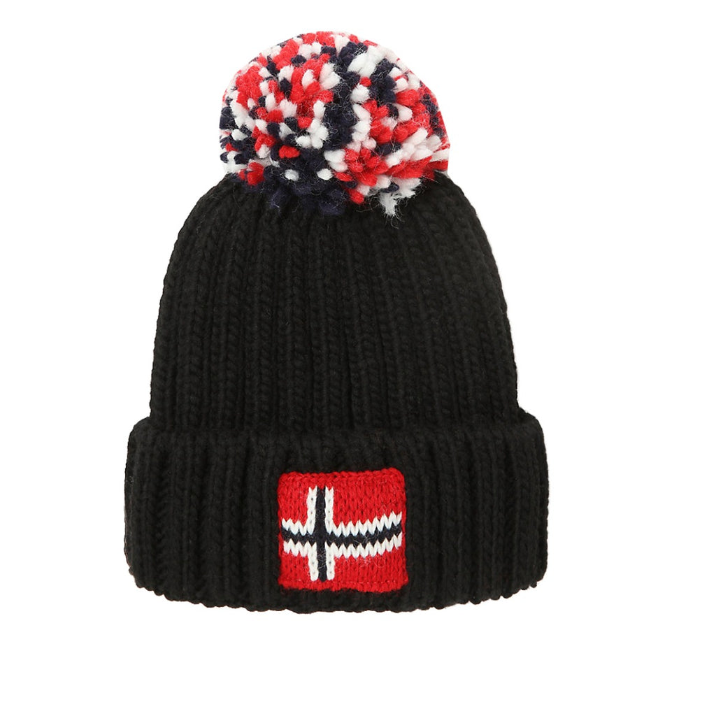 Napapijri Junior Black Semiury Beanie Hat