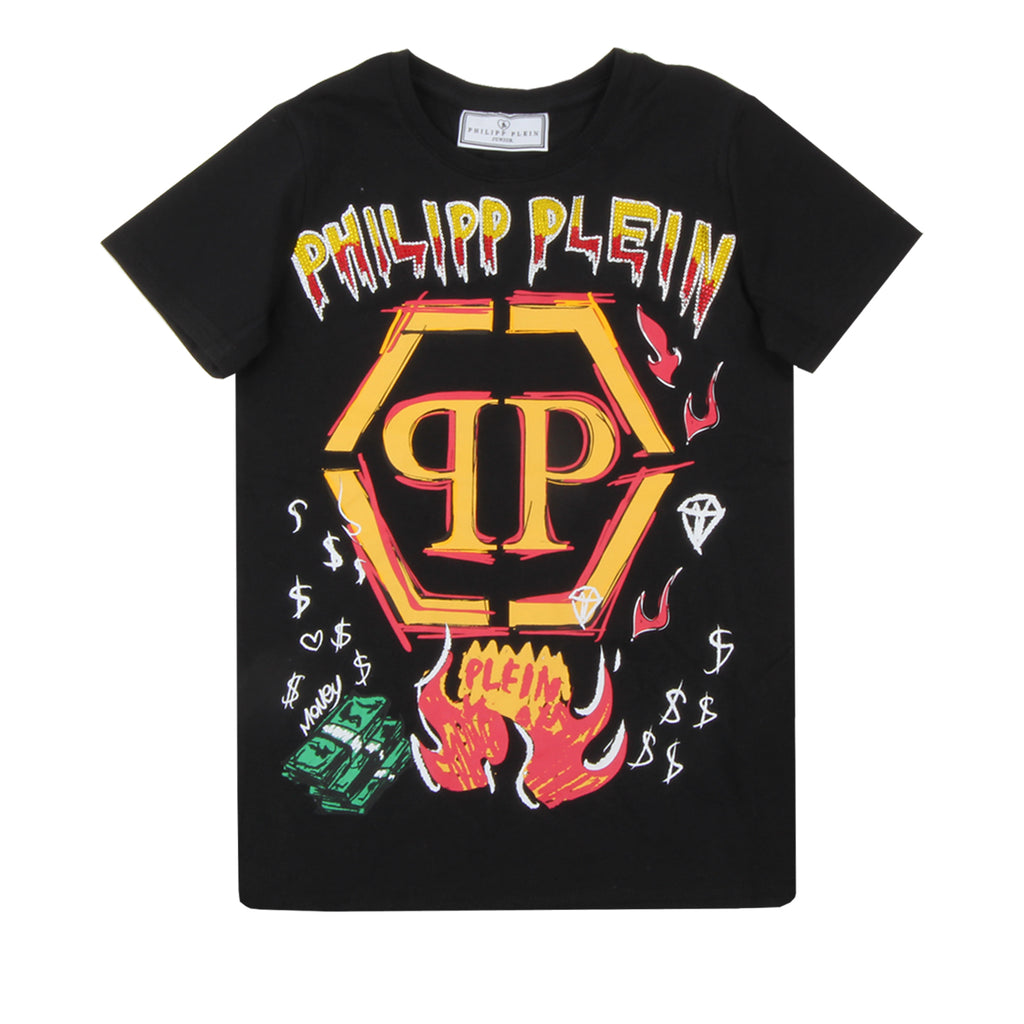 Philipp Plein Junior Graffiti T-shirt