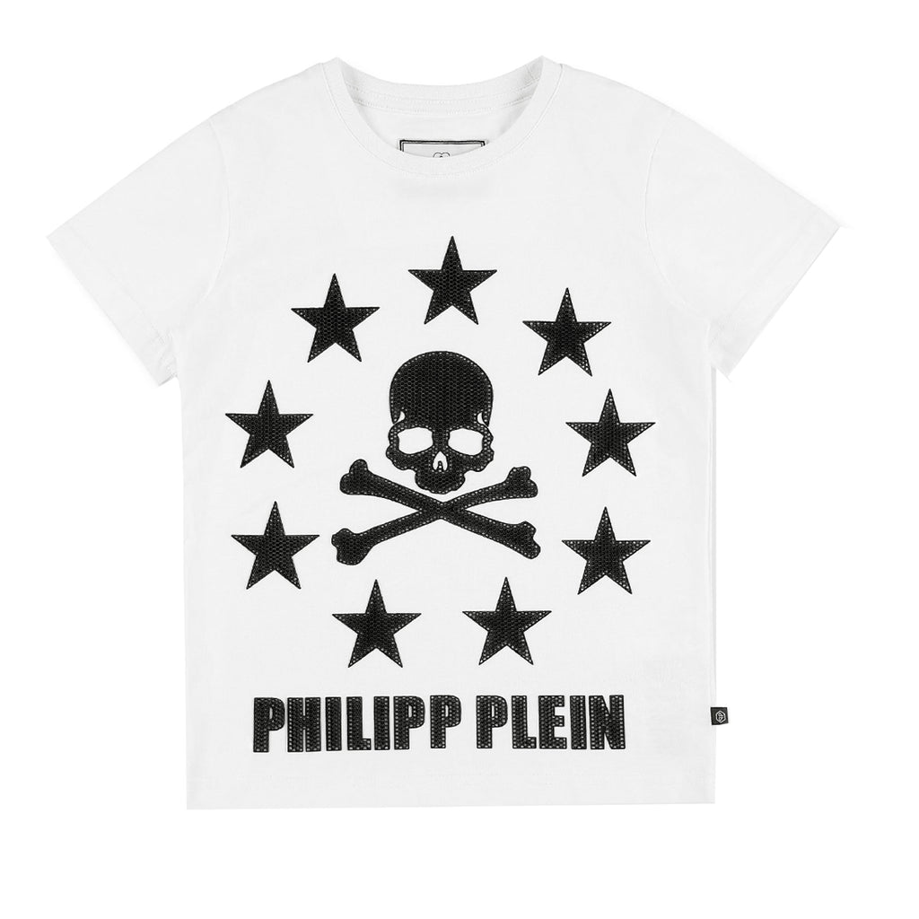 Philipp Plein Junior Stars and Skull Print T-shirt