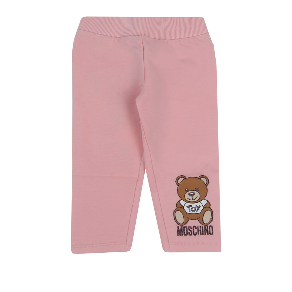 Moschino Baby Pink Teddy Print Trousers