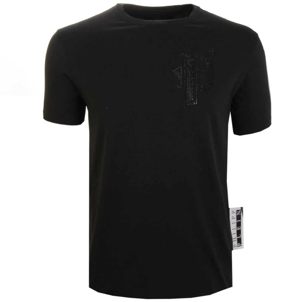 Philipp Plein Black Gothic Cotton T-Shirt