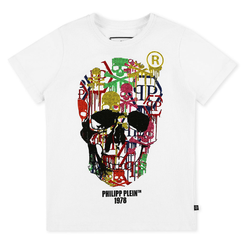 Philipp Plein Junior SS Skull T-shirt