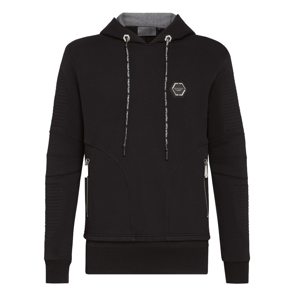 Philipp Plein Black Statement Hoodie Sweatshirt