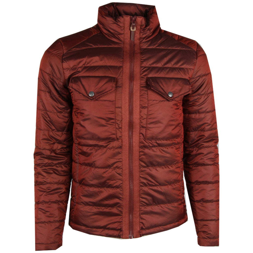 Pretty Green Funnel Neck Orange Quilted Jacket