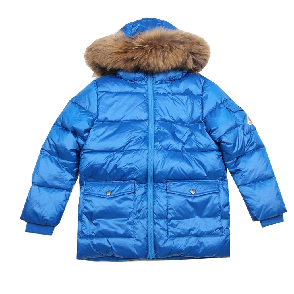 Pyrenex Toddler Real Fur Blue Jacket
