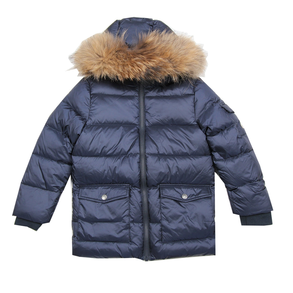 Pyrenex Kids Real Fur Navy Jacket