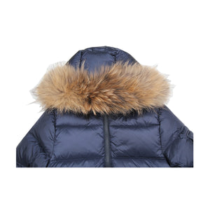 Pyrenex Kids Fur Hood Navy Jacket