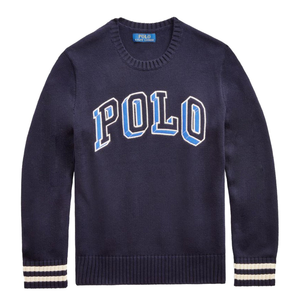 Ralph Lauren Kids Navy Embroidered Logo Sweatshirt