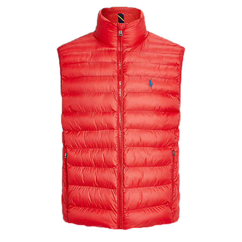 Ralph Lauren Red Logo Print Packable Gilet
