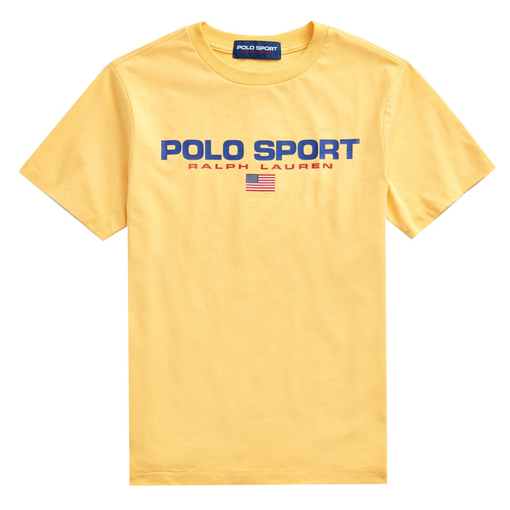 Ralph Lauren Junior Yellow Polo Sport Logo T-shirt