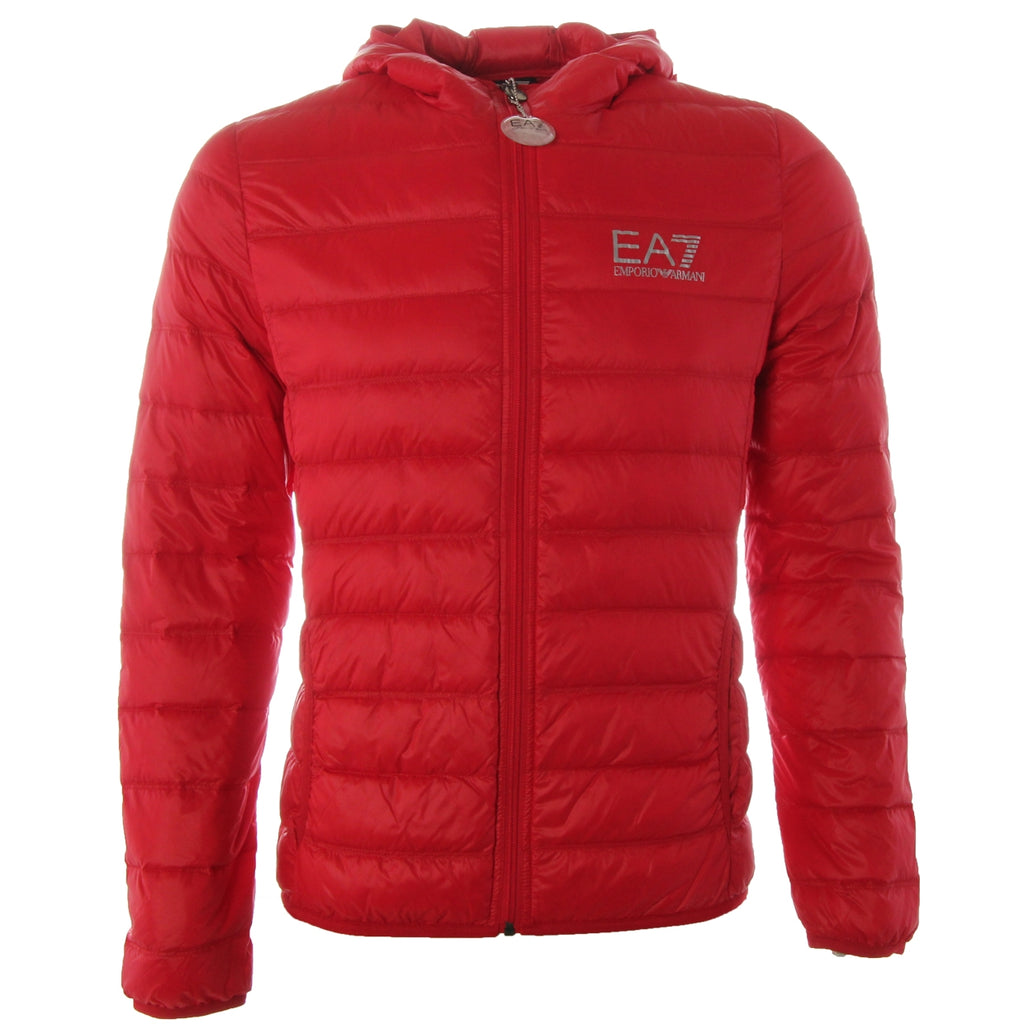 EA7 Red Puffer Down Jacket