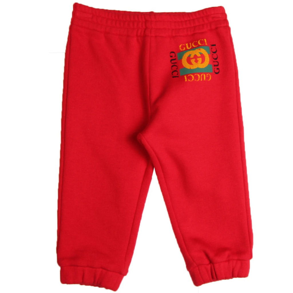 Gucci Baby Red Logo Jogging Bottoms
