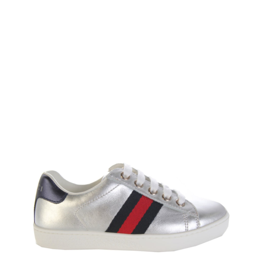 Gucci Kids Ace Leather Trainers