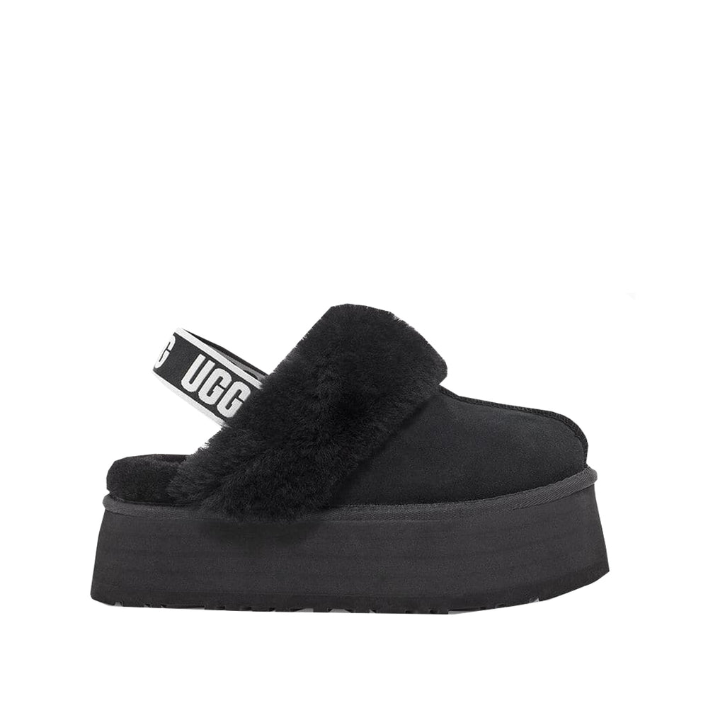 UGG Black Funkette Slippers