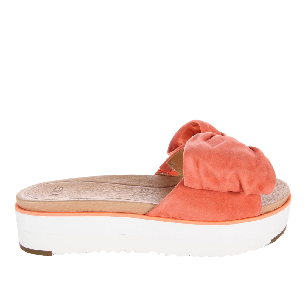 UGG Orange Bow Joan Slide Sandal