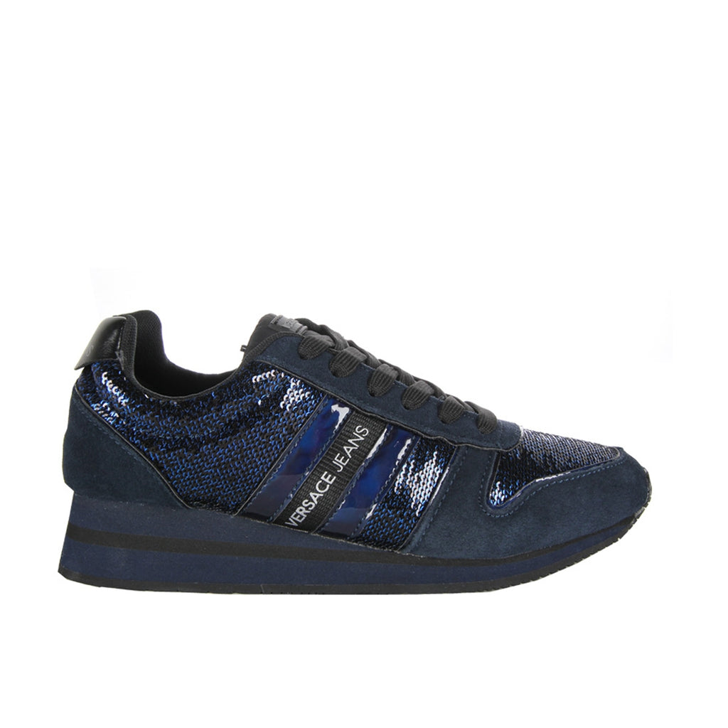 Versace Jeans Shiny Blue Trainers