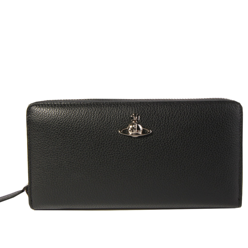 Vivienne Westwood Windsor Black Zip Round Wallet