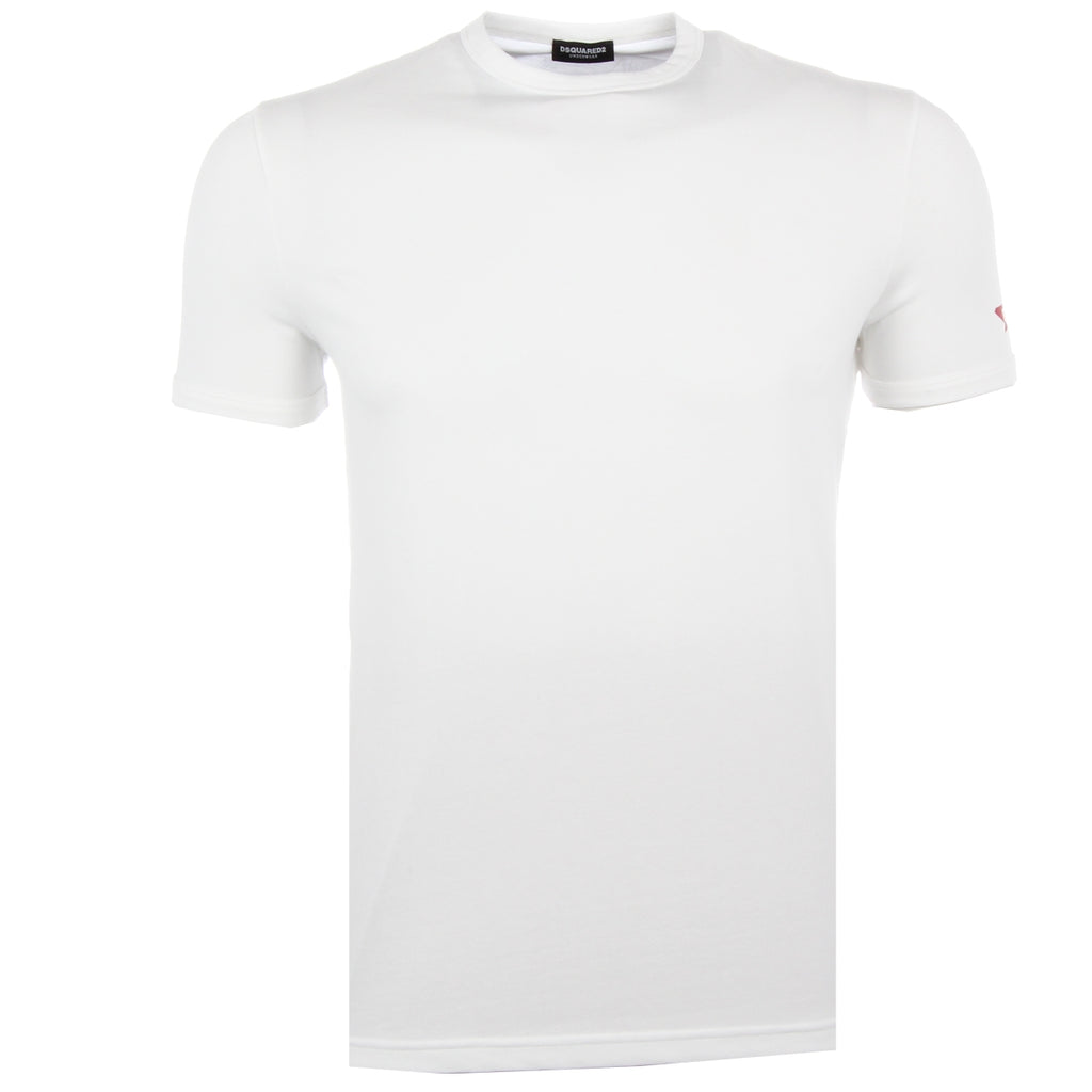 DSquared2 White Sleeve Logo T-Shirt