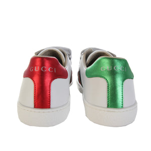 Gucci Kids White Leather Shoes