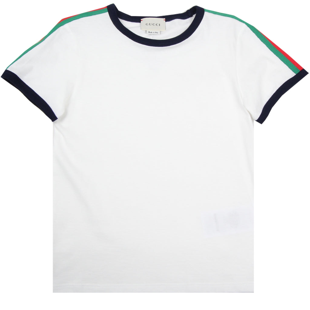 Gucci Kids Snake Print Cream T-Shirt