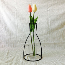 Load image into Gallery viewer, Nordic Style Rose Golden Iron Art