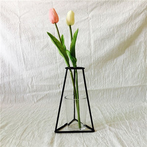 Nordic Style Rose Golden Iron Art