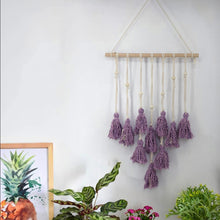 Load image into Gallery viewer, Tassel  Wall Hanging Handwoven Bohemian